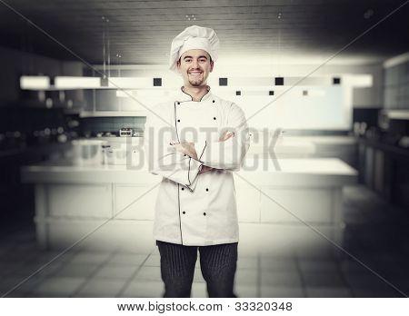 portrait of chef in modern kitchen