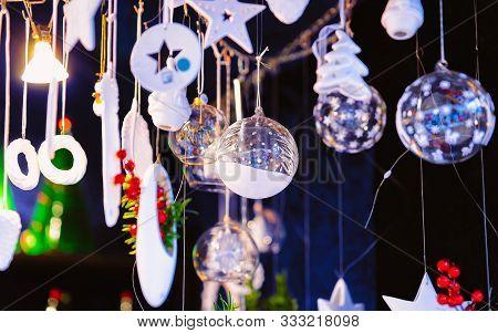 Christmas Tree Decoration At Christmas Market At Charlottenburg Palace Berlin New