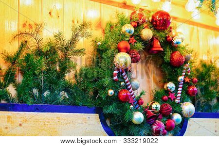 Christmas Wreath Night Christmas Market At Charlottenburg Palace Berlin New
