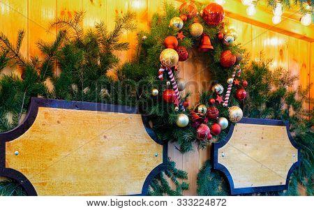Christmas Wreath Night Christmas Market In Charlottenburg Berlin New