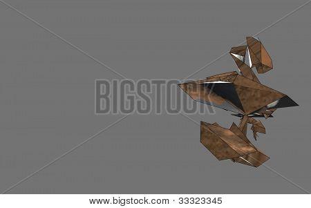 3D conceptual space ship