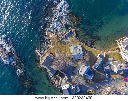Top View Of Gloucester City And Gloucester Harbor, Cape Ann, Massachusetts, Usa.