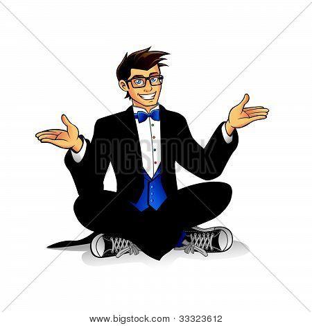 Executive Geek Sitting
