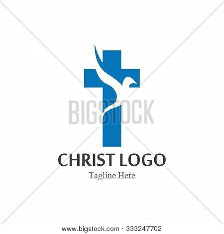 Christ Logo Template Design Vector, Creative Simple