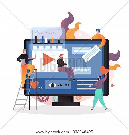 Video Content Marketing Strategy Vector Concept Illustration