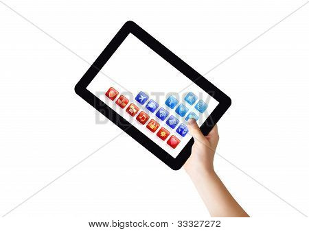 hand with Tablet