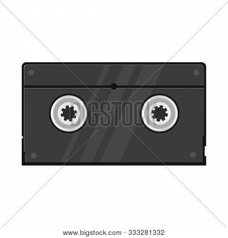 Vector Illustration Of Videotape And Reel Logo. Web Element Of Videotape And Videocassette Stock Sym