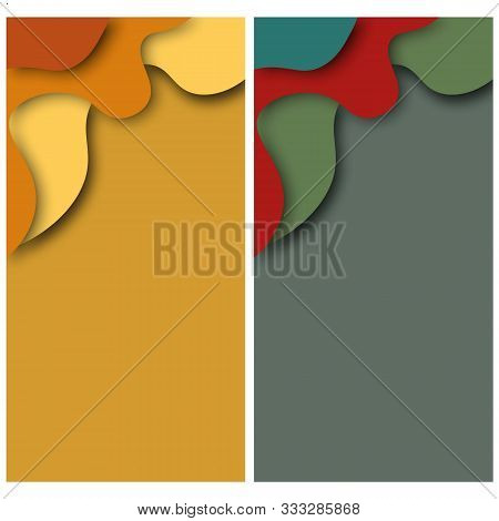 Modern Flat Design Template On Light Backdrop.