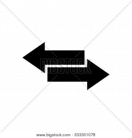 Black Direction Arrow Like Transfer. Simple Flat Trend Modern Linear Logotype Graphic Art Design Iso