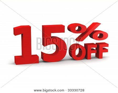 Fifteen Percent Off