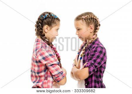 Easy Hairdo For Long Length Hair. Small Childred With Plait Hairdo. Little Girls Wear Long Braid Hai