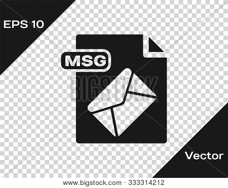 Grey Msg File Document. Download Msg Button Icon Isolated On Transparent Background. Msg File Symbol