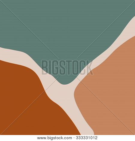 Modern Abstract Shapes Terrae Modern Geometric Texture Poster Terracotta Art Print Painting Fashion