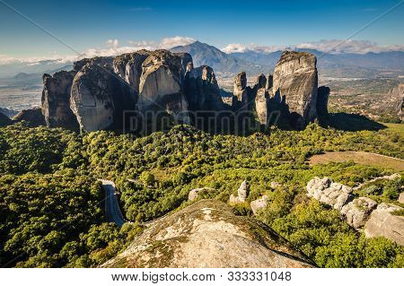 Amazing Meteora Landscape - Thessaly, Greece, Europe
