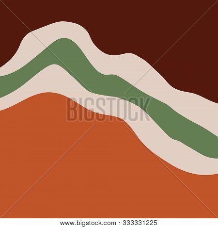 Modern Abstract Shapes Terrae Modern Geometric Texture Poster Terracotta Art Print Painting Fashion