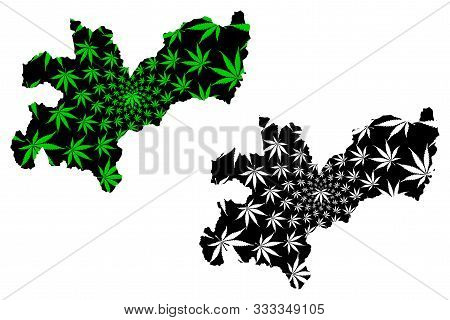 Caldas Department (colombia, Republic Of Colombia, Departments Of Colombia) Map Is Designed Cannabis