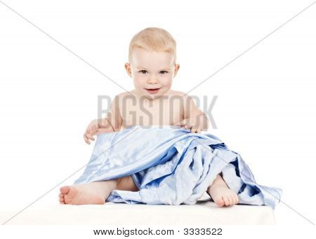 Baby Toddler Boy With Blankie 4