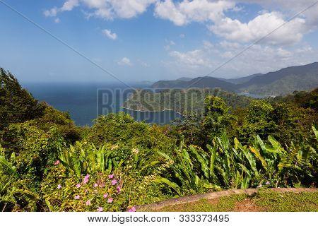 Beautiful Scenery Look Out Landscape Trinidad North Coast Ocean Tropical