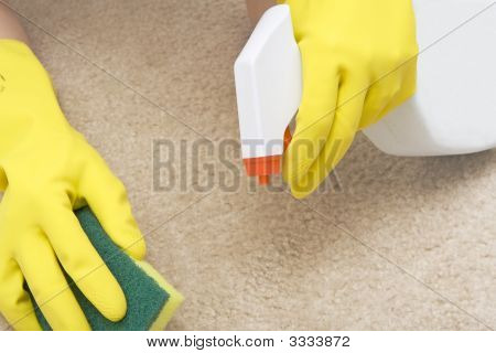 Cleaning Stain On A Carpet
