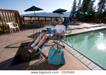 senior woman At The Pool3