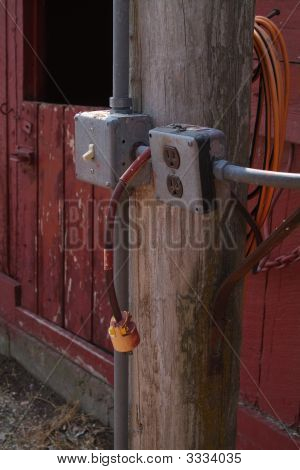Power Outlet With Extention Cord