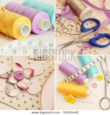scrapbooking craft materials and sewing accessories