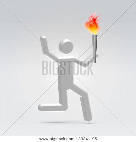 Correr con la antorcha de fuego