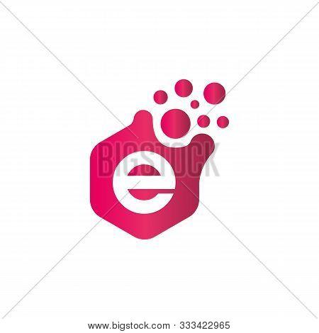 E Dots Logo Design Template. Hexagon E Icon. E Letter Logo. E Icon. E Letter Hexagon. Company Logo.