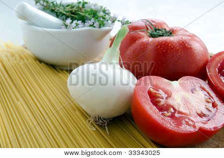 Tomatoes and pasta