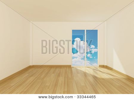 Empty room of interior decotared
