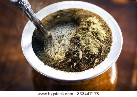 A Typical Brazilian Drink, O Chimarrão, Or Mate, Is A Character