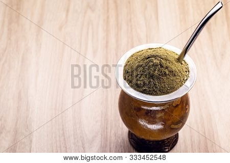 Chimarrão, Or Mate, Is A Characteristic Drink Of The Of Southern South America Bequeathed By The Cai