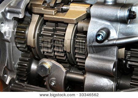 Detail of vehicle gearbox.