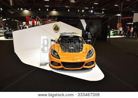 Paris, France - October 03, 2018: Lotus Exige 410 Sport At Paris Motor Show