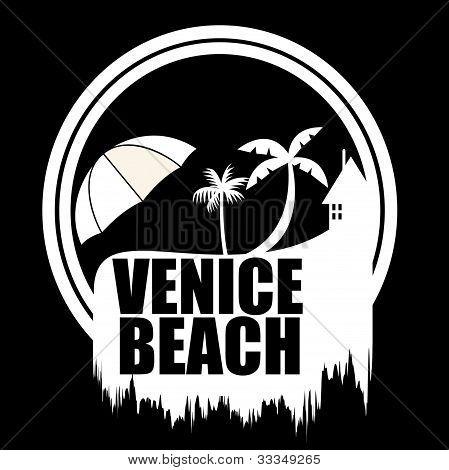Art illustration Vebice Beach