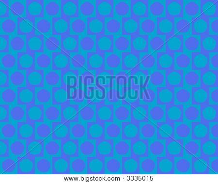Optical Illusion Cafe Wall Effect Pentagons Light Blue Medium Blue