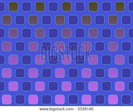 Op Art Alternated Rounded Squares Blue And Pink Over Medium Blue Seamless poster