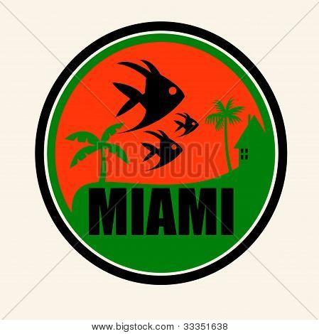 Miami beach art illustration