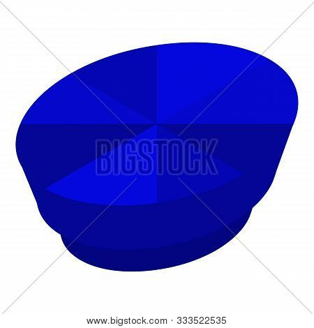 Blue Carat Gem Icon. Isometric Of Blue Carat Gem Vector Icon For Web Design Isolated On White Backgr