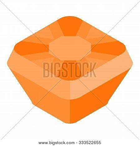 Citrine Gem Icon. Isometric Of Citrine Gem Vector Icon For Web Design Isolated On White Background