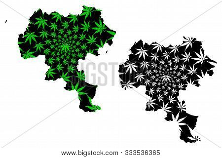 Cauca Department (colombia, Republic Of Colombia, Departments Of Colombia) Map Is Designed Cannabis