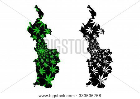 Choco Department (colombia, Republic Of Colombia, Departments Of Colombia) Map Is Designed Cannabis