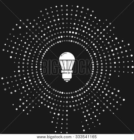 White Led Light Bulb Icon Isolated On Grey Background. Economical Led Illuminated Lightbulb. Save En