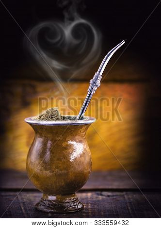 A Drink Made With Mate Herbs, Typically Gaucha, Consumed In Southern Brazil, The Chimarrão. Photo Fo