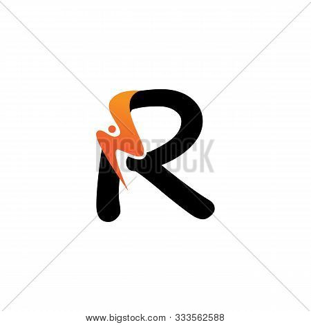 R Letter Logo Fire Creative Concept Template Design
