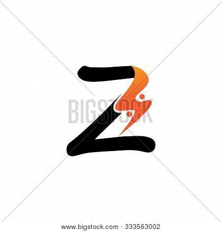 Z Letter Logo Fire Creative Concept Template Design Creative