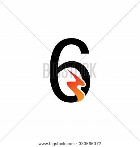Number 6  Logo Or Symbol Template Design Creative