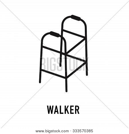 Medical Walker Icon. Trendy Flat Vector Medical Walker Icon On White Background From Health And Medi
