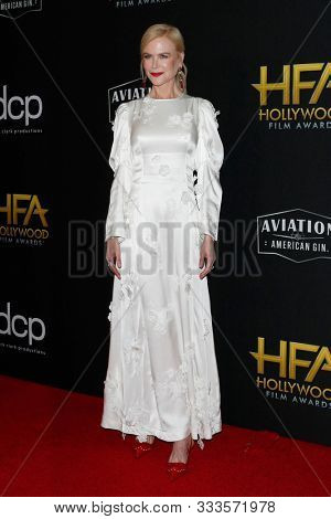 LOS ANGELES - NOV 3:  Nicole Kidman at the Hollywood Film Awards at the Beverly Hilton Hotel on November 3, 2019 in Beverly Hills, CA