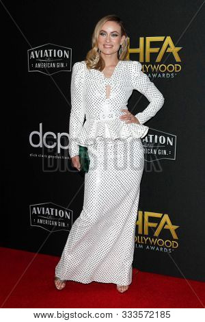 LOS ANGELES - NOV 3:  Olivia Wilde at the Hollywood Film Awards at the Beverly Hilton Hotel on November 3, 2019 in Beverly Hills, CA